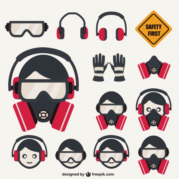 626x626 Safety Elements Pack Vector Free Download
