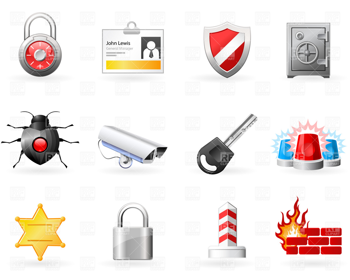 1200x960 Security And Safety Icons Vector Image Vector Artwork Of Icons