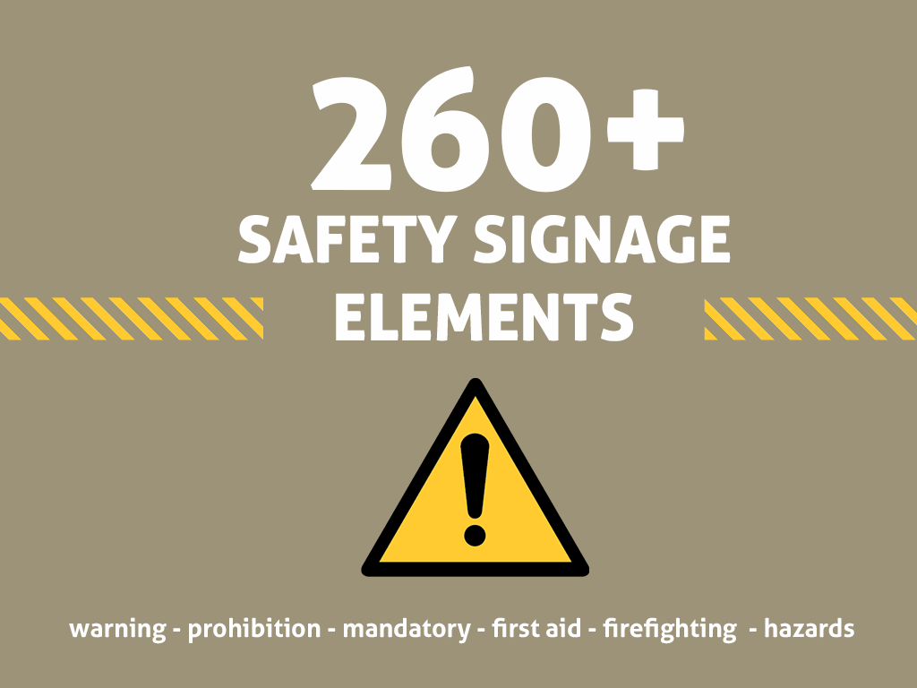 1024x768 Vector Safety Signs And Icons Themzy Templates