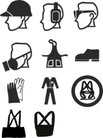 150x200 Work Safety Equipment Logo Vector (.cdr) Free Download