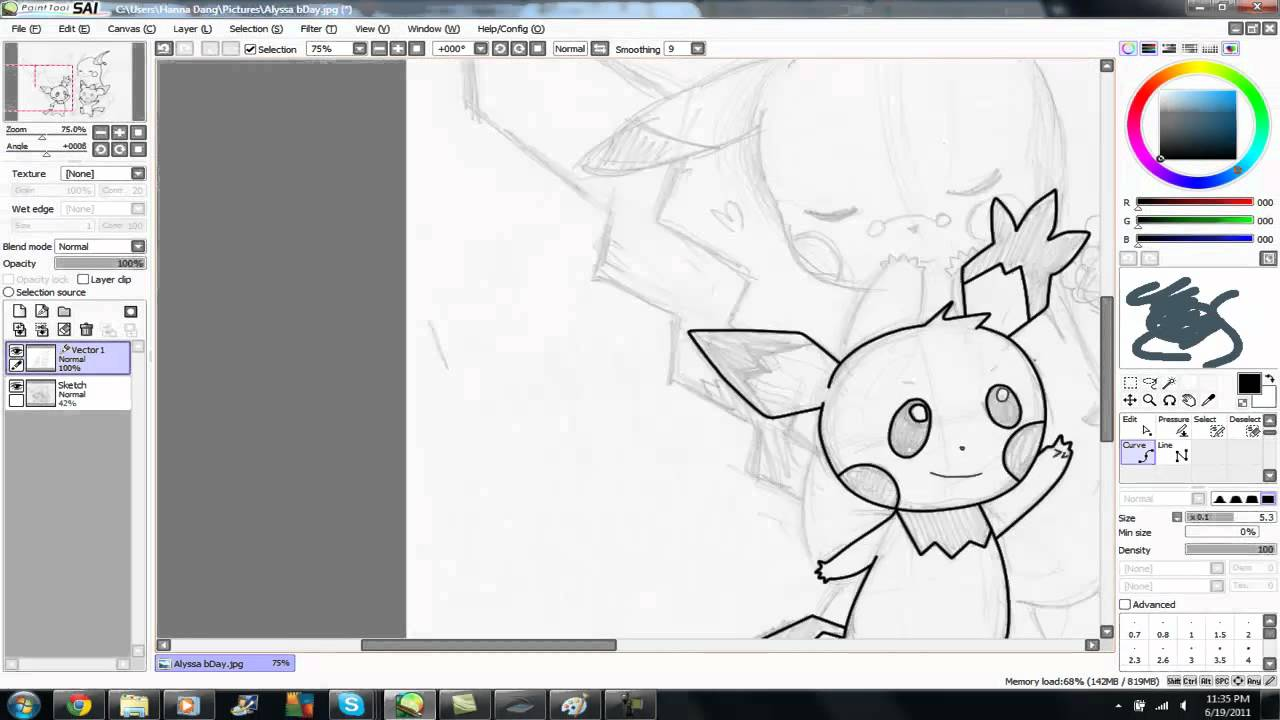 1280x720 How To Use Vector Tool In Paint Tool Sai