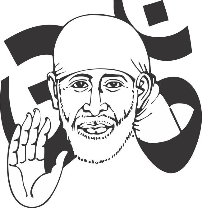 650x669 Shirdi Sai Live Clipart