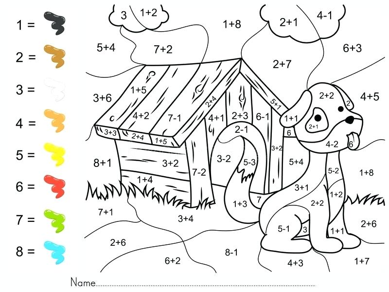 800x600 Coloring Paint Download Color By Addition And Subtraction Numbers
