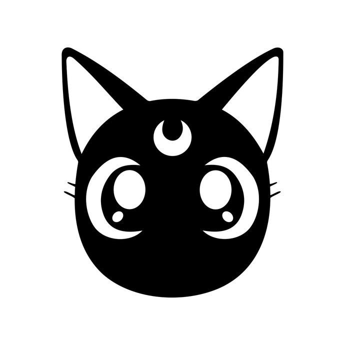 690x690 Sailor Moon Luna Cat Face Graphics Design Svg By Vectordesign