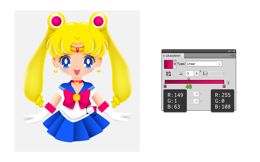 850x530 How To Draw Sailor Moon In Adobe Illustrator
