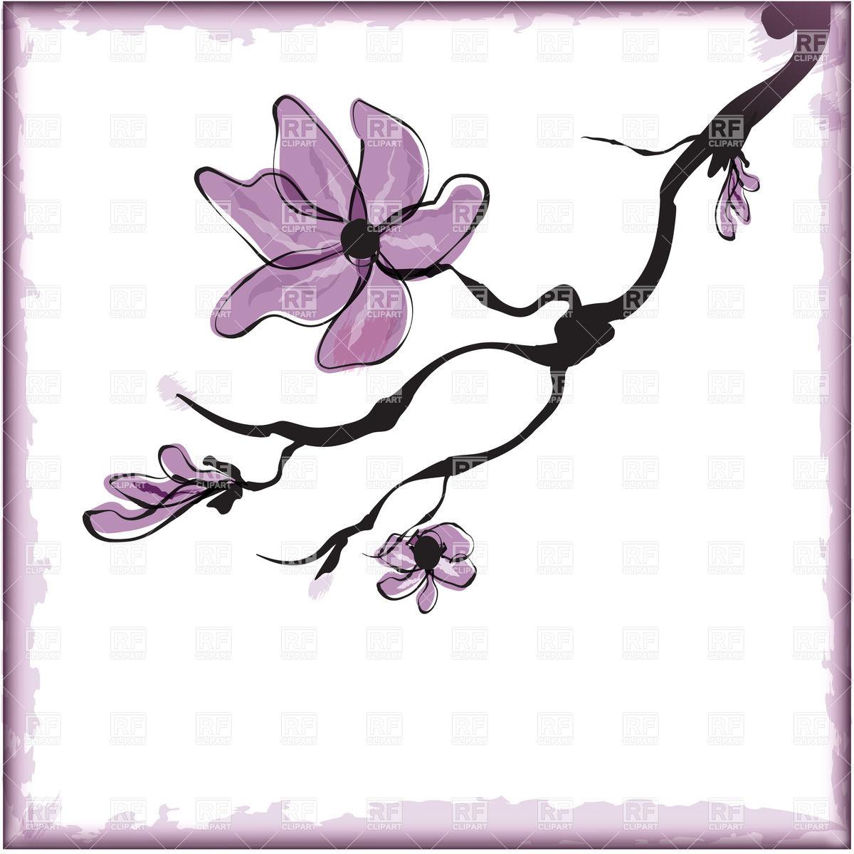 1200x1200 Cherry Blossom ,sakura Flower Vector Image Vector Artwork Of