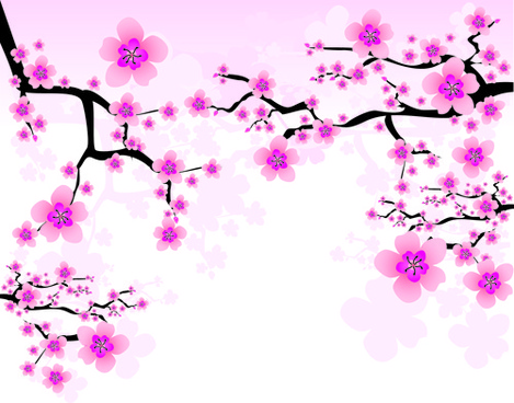 469x368 Cherry Blossom Free Vector Download (937 Free Vector) For