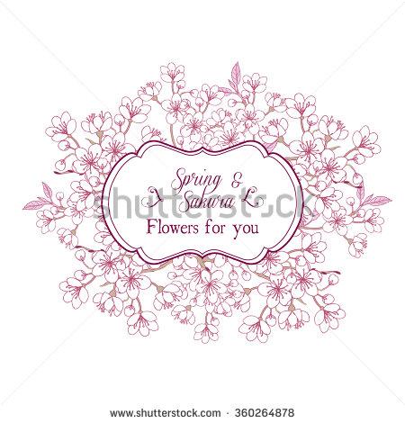 450x470 Drawn Sakura Blossom Vector