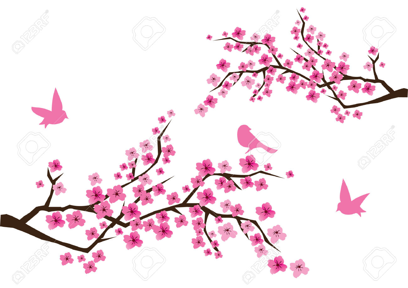 1300x918 Blossom Clipart Sakura Flower