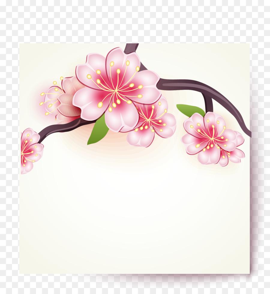 900x980 Paper Cherry Blossom