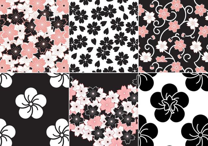 700x490 Sakura Flower Vector Pattern Pack