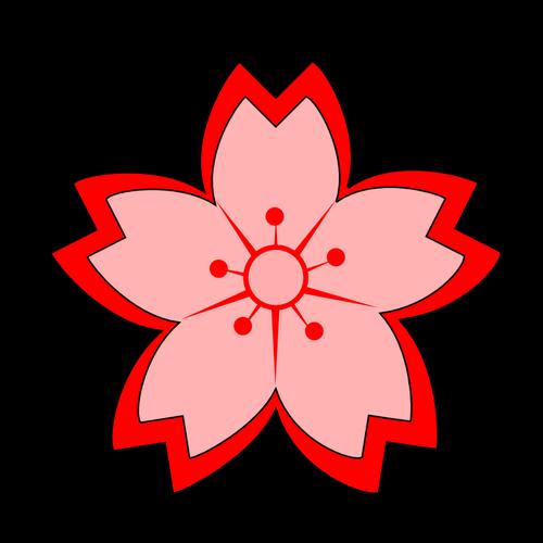 500x500 Sakura Flower Vector Image Public Domain Vectors