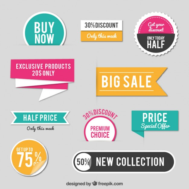 626x626 Sales Stickers Vector Free Download