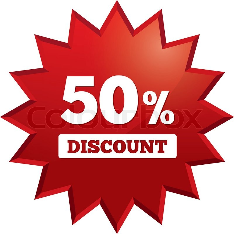 800x800 Special Offer Tag. Star Sticker. Icon For Sale. 50 Percent