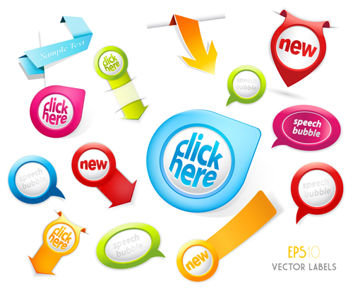500x412 Different Sale Label Stickers Vector 05 Free Download
