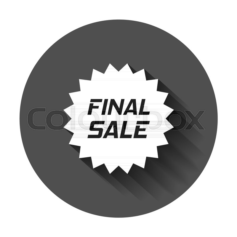 800x800 Discount Sticker Vector Icon In Flat Style. Sale Tag Sign