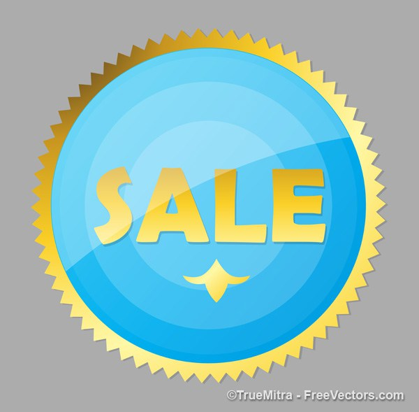 600x589 Download Free Glossy Sale Sticker Vector Vector Illustration