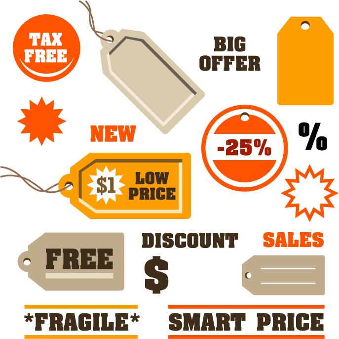 687x686 Discount Sales Tag Vector Free Vector 4vector