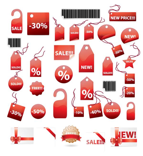 600x654 Free Vector File Sales Tag Stickers Creative Beacon