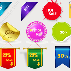 300x300 30 Sales Tags Vector Graphics