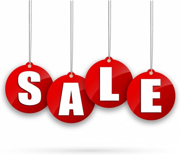 600x514 Sale Tags Free Vector In Adobe Illustrator Ai ( .ai
