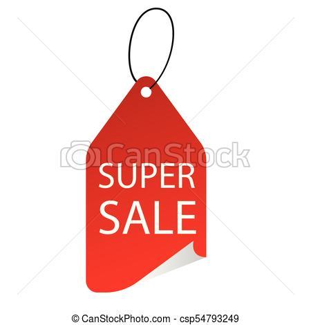 450x470 Banner Super Sale Tag Vector Image.