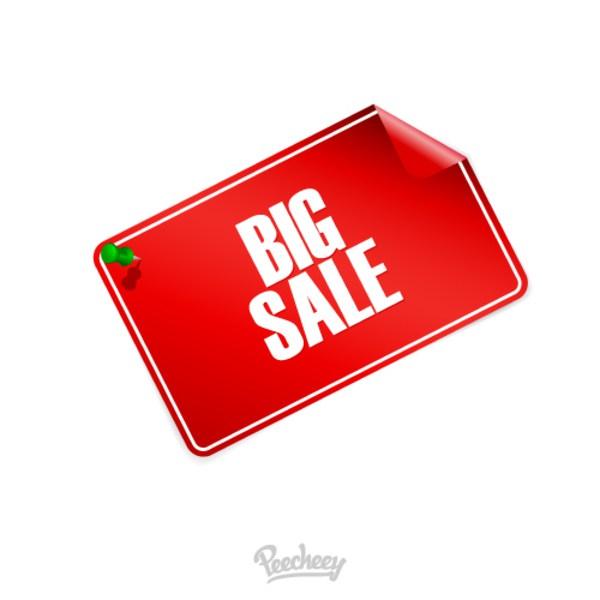 600x600 Big Sale Tag Free Vector 123freevectors