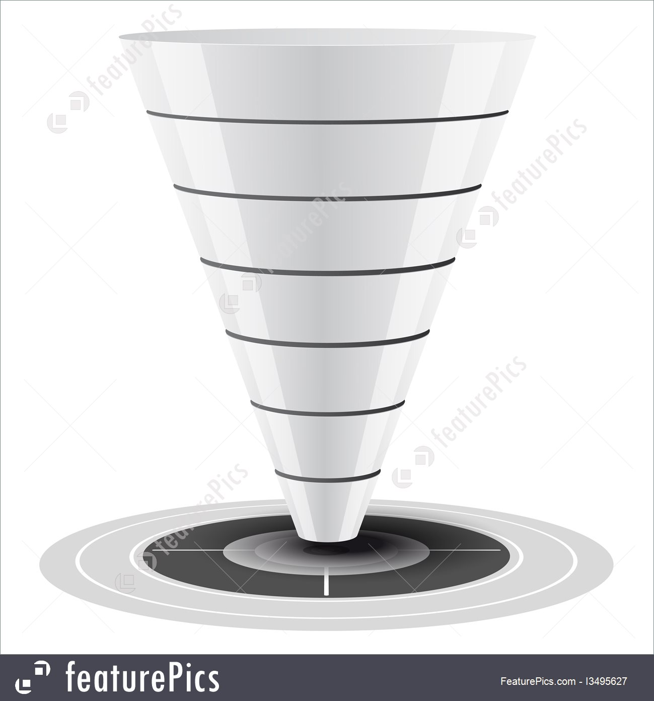 1299x1391 Sales Or Conversion Funnel, Vector Graphics