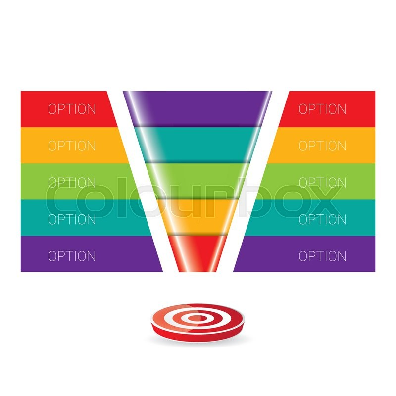 800x800 Vector Infographic Or Web Design Template . Vector Sales Funnel