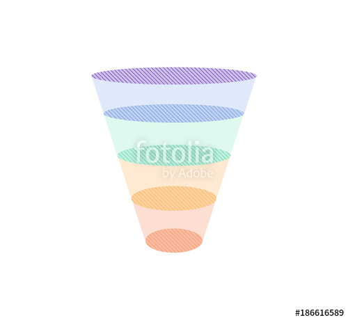 500x460 Colorful Sales Funnel Vector Illustration. Stock Image And