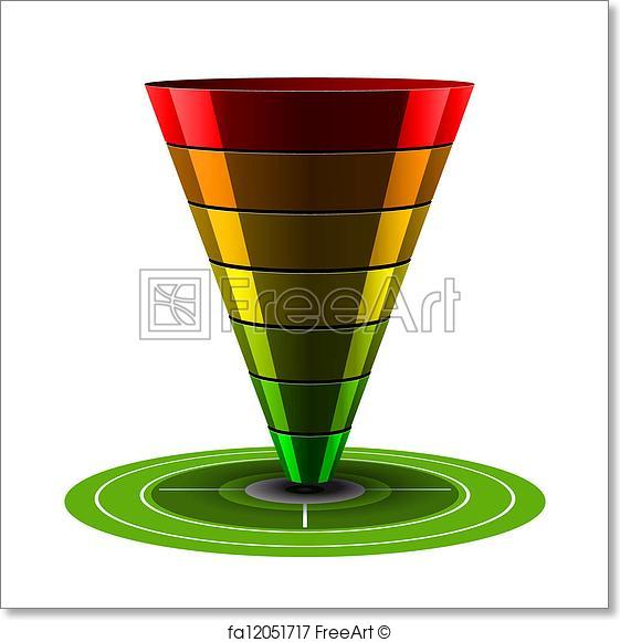 561x581 Free Art Print Of Sales Or Conversion Funnel, Vector . Black