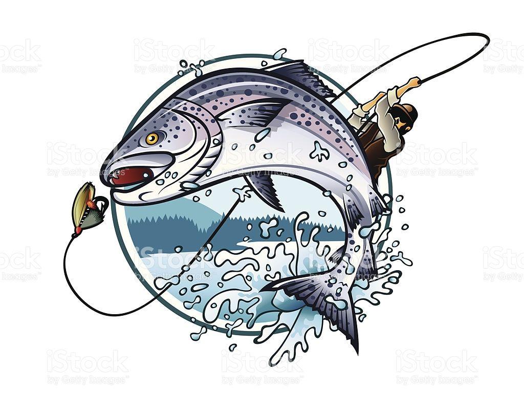 1024x768 Fishing Salmon Vector Id162300042 Salmon Fishing