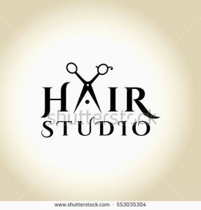 287x300 Graphics Hair Design Luxury Hair Salon Logo Scissors Scissors
