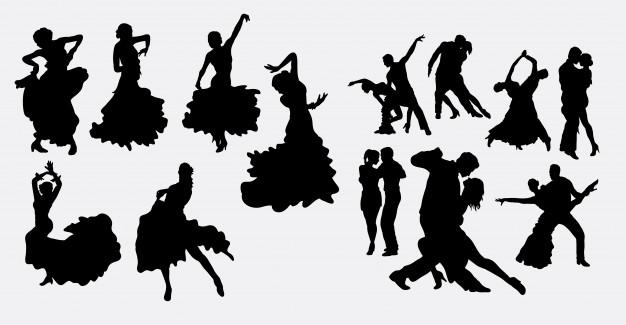 626x325 Flamenco Salsa And Latin Dance Silhouette Vector Premium Download