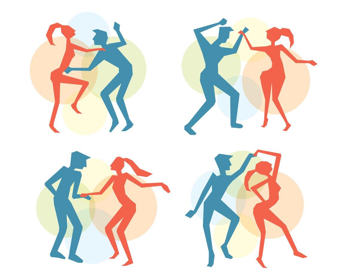 1136x936 Salsa Dance Colorful Silhouette Vector Vector Art Amp Graphics