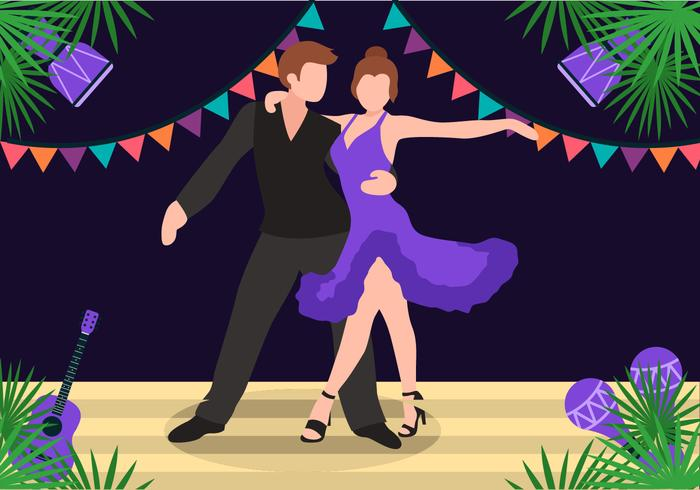 700x490 Salsa Dancing On Stage Vector