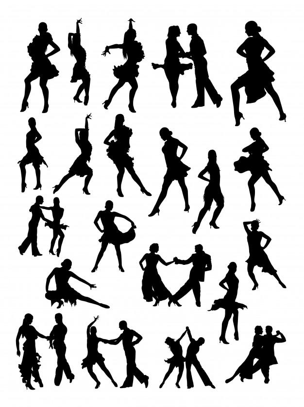 626x839 Salsa Dancer Silhouette Vector Premium Download