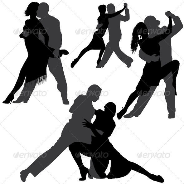 590x590 Tango And Salsa Vector Silhouettes By Only4denn Graphicriver