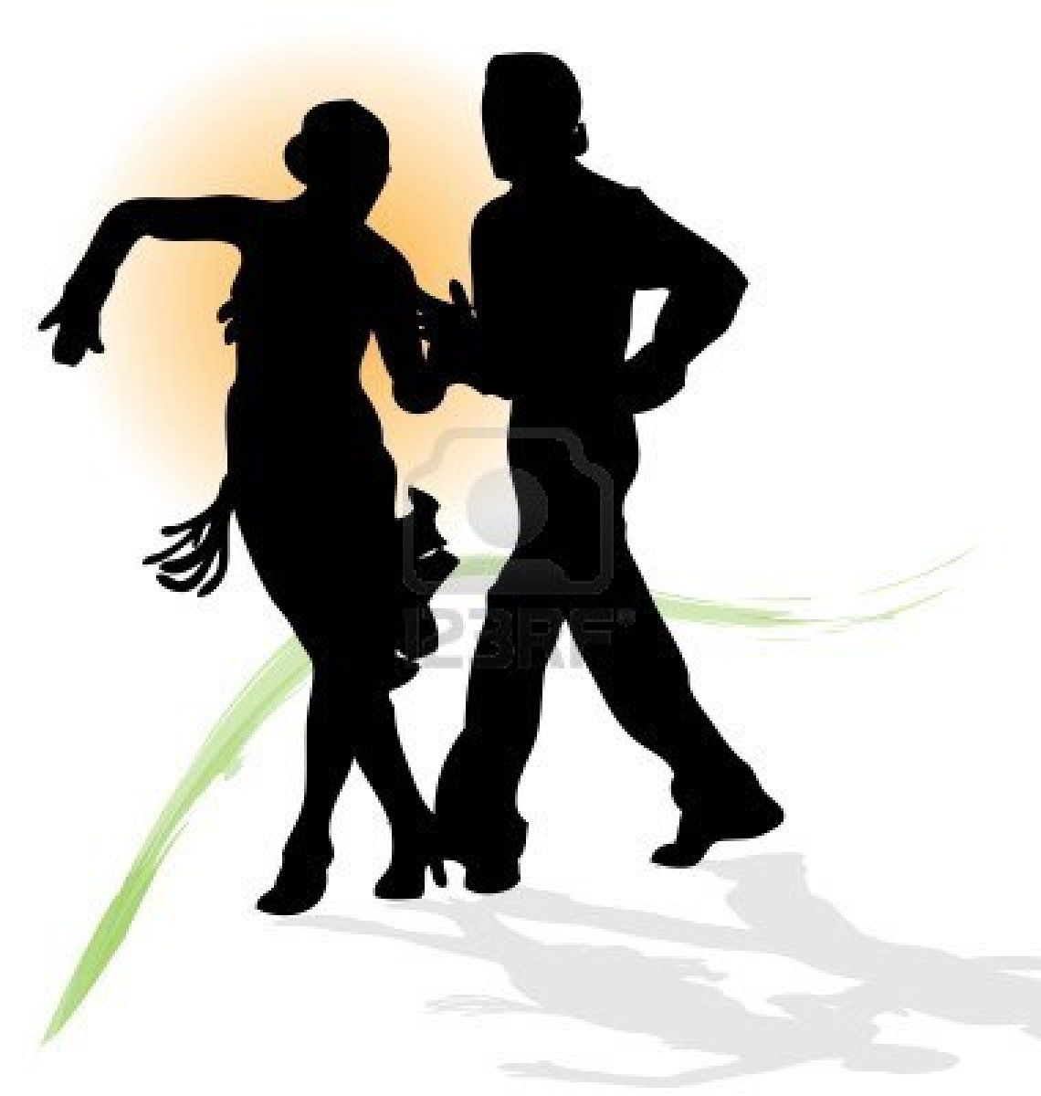 1140x1200 Vector Silhouette Of Couple Dancing Latin With Orange Sun And In