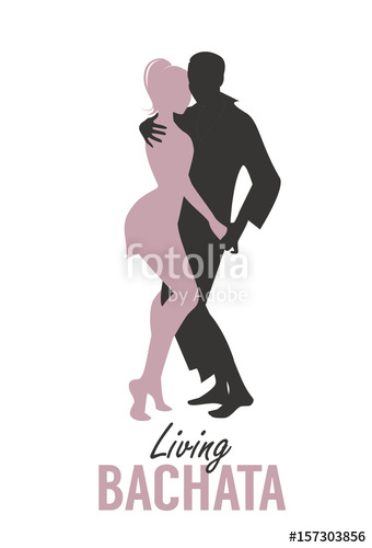 340x500 Young Couple Silhouettes Dancing Bachata, Salsa Or Latin Music