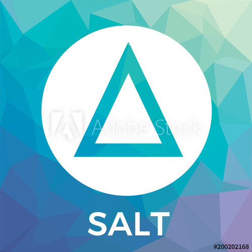 500x500 Salt Vector Logo. Blockchain Backed Loans And Salt Crypto Currency