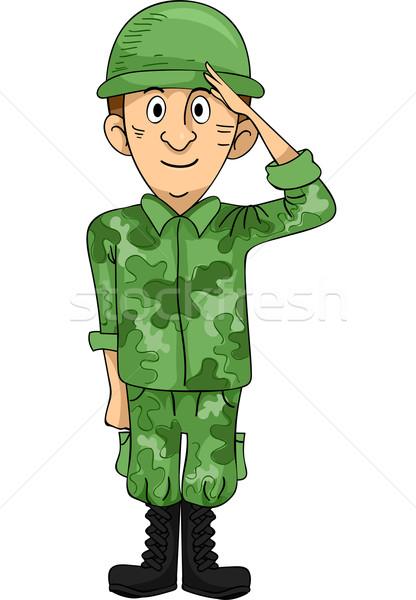 416x600 Soldier Salute Vector Illustration Lenm ( 3503863) Stockfresh