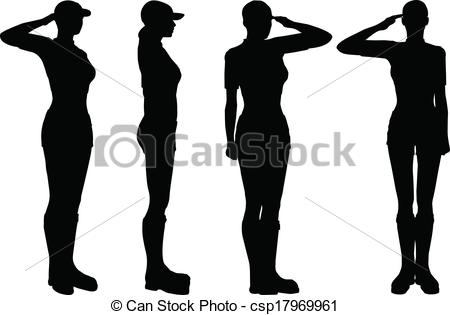 450x315 Eps 10 Vector Of Soldier, Officer, Captain, Policeman Saluting.