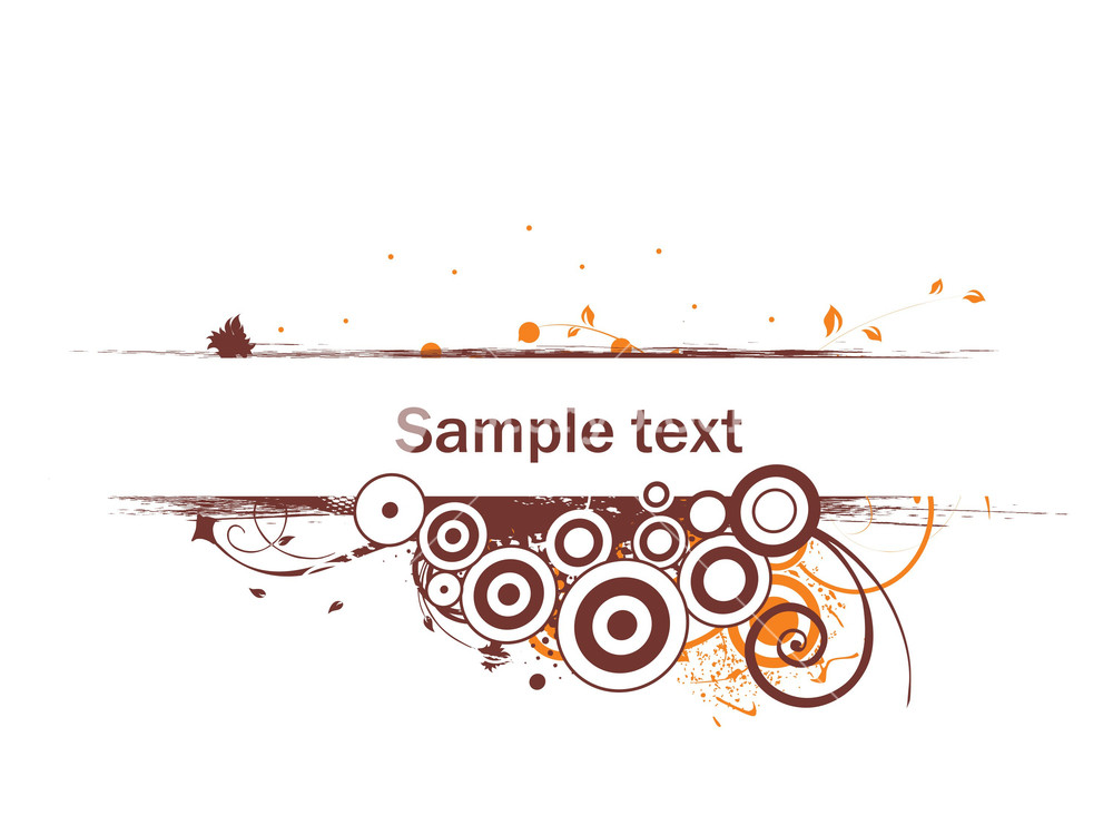 1000x750 Floral Vector Wallpaper With Sample Text On White Background