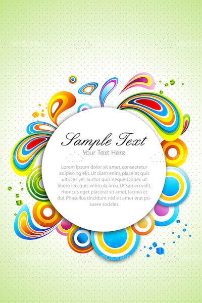 400x600 Abstract Colourful Vector Background With Sample Text