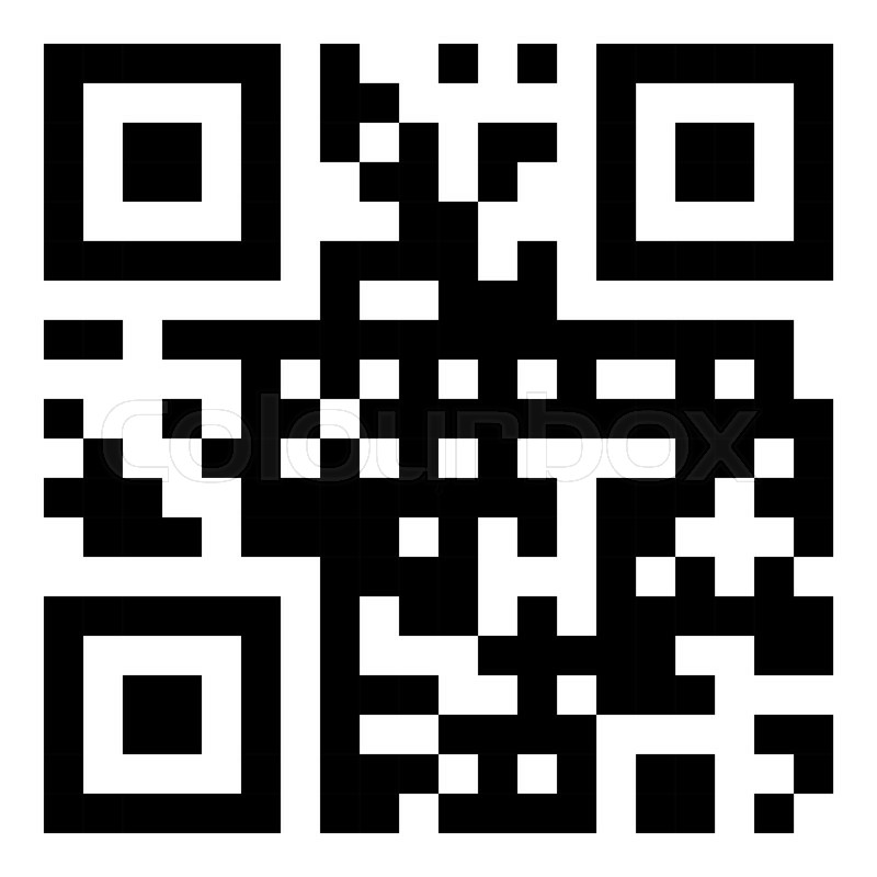 800x800 Vector Sample Qr Code Ready To Scan With Smart Phone Stock