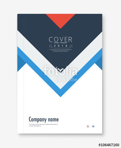409x500 Annual Report Cover Design. Book, Brochure Template With Sample