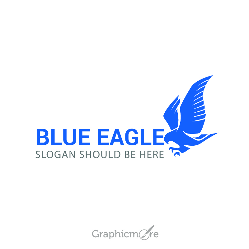 800x800 Blue Eagle Sample Logo Design Free Vector File Download