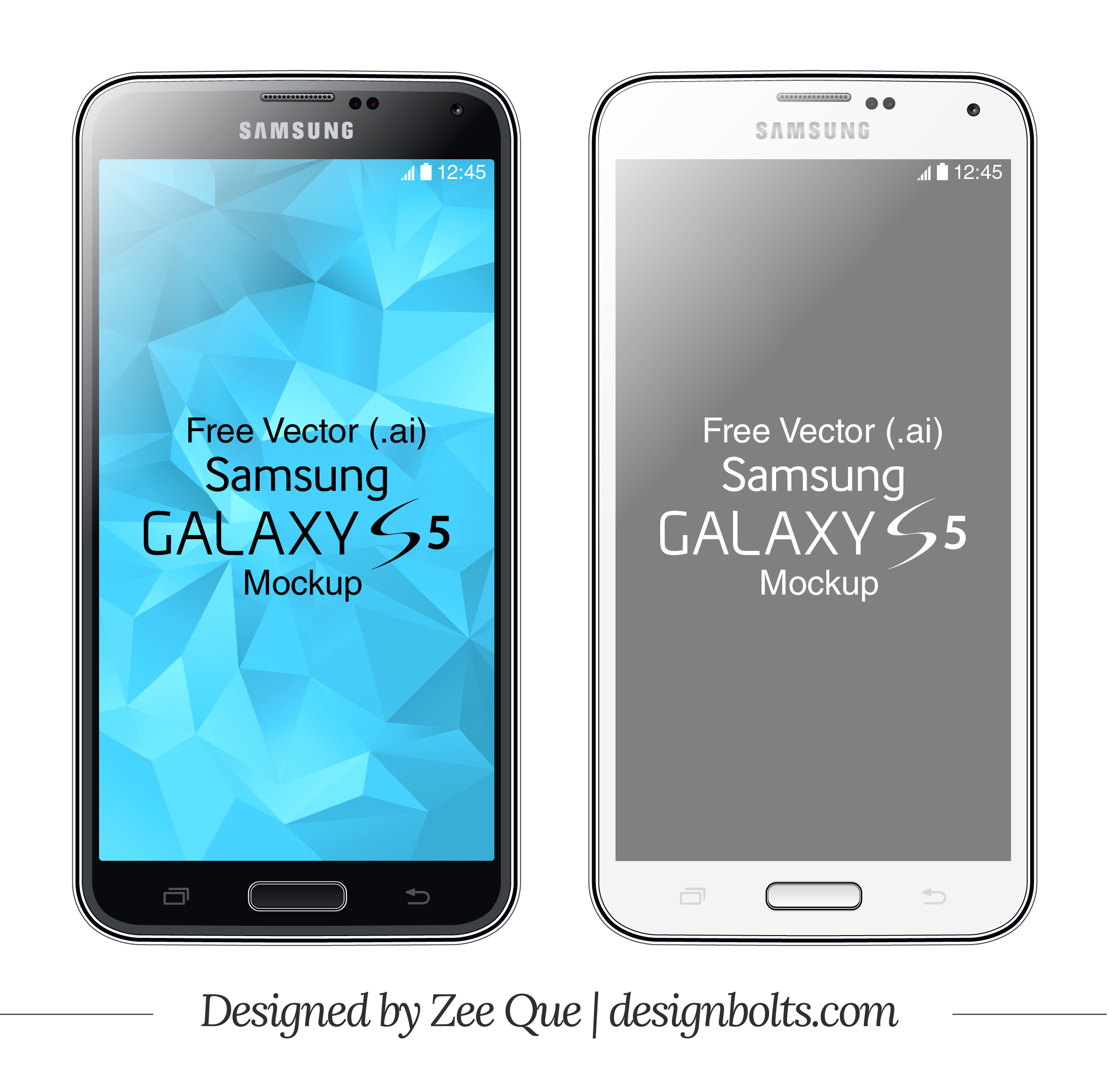 2362x2325 Free Vector Samsung Galaxy S5 Mockup In .ai Format