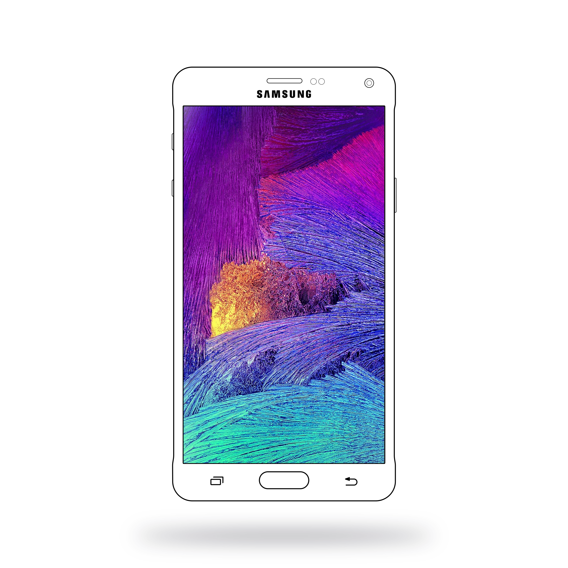 2361x2361 Samsung Galaxy Note 4 Vector Mockup